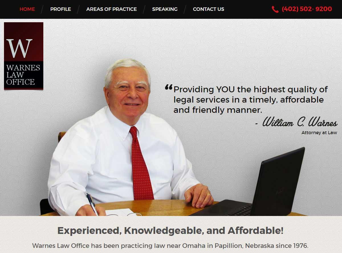 papillion web design warnes law office