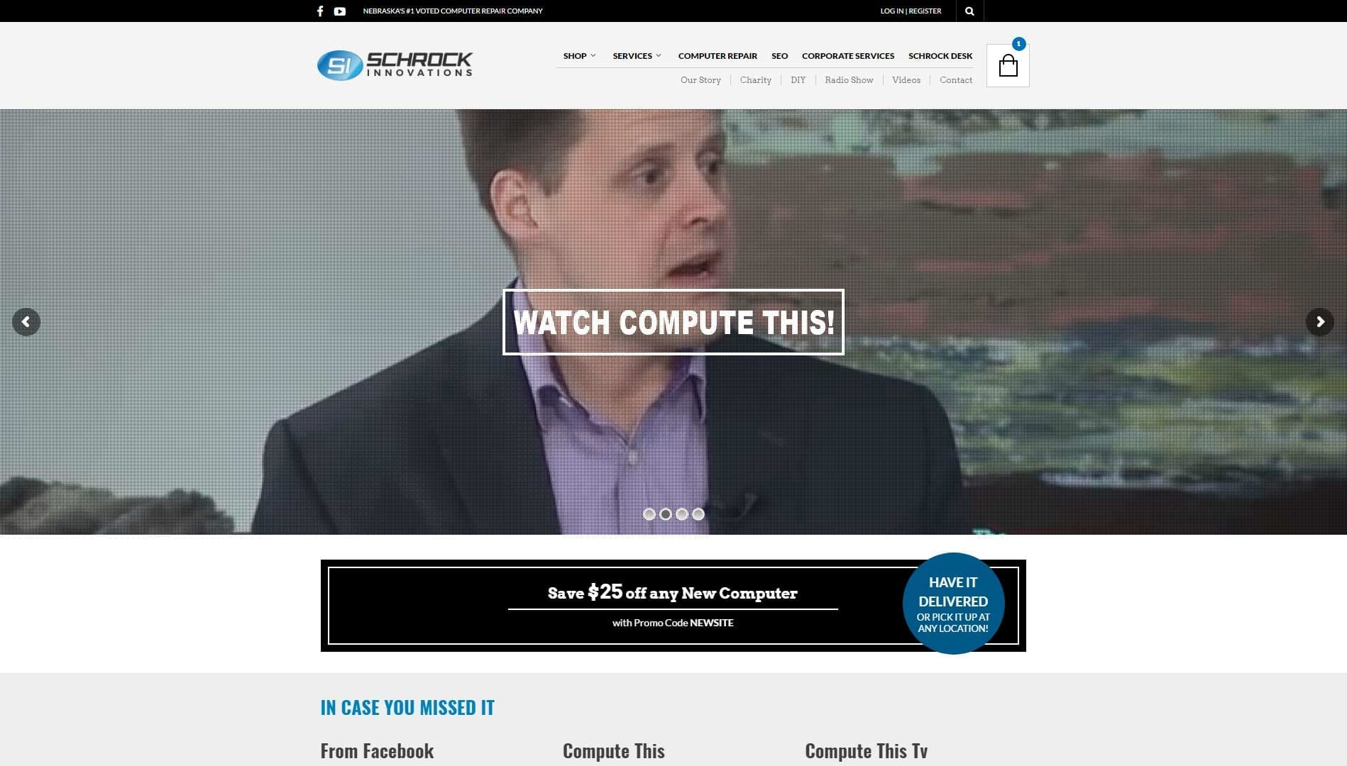 schrock Interactive website design