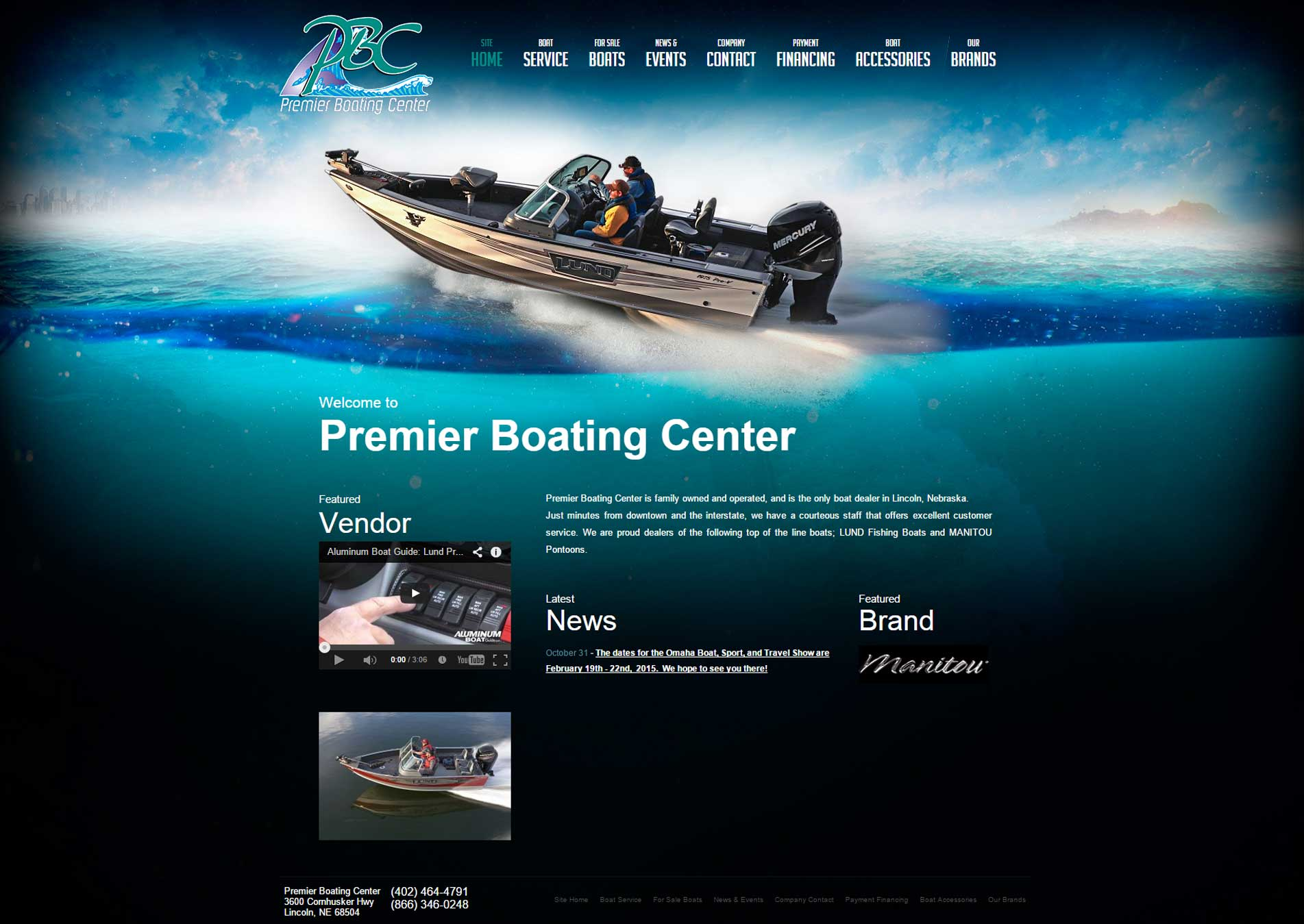 web devlopment premier boating center