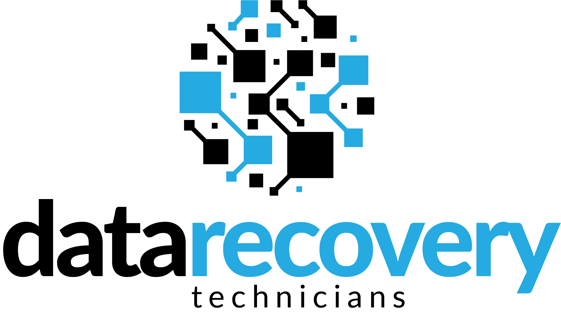 data recovery technicians logo stacked